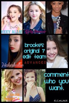Brooke, Nia, and Mackenzie are open! This edit team is advanced so in order to join you must be following me as you must tag me on one of your best edits. You also must be experienced and dedicated. :) Please join!!