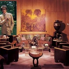 At home with Yves Saint Laurent and Pierre Berge: A look into their former homes in Paris and Normandy, in France. Ysl, Marrakech, Yves Saint Laurent Paris, St Laurent, Anne Sophie, Art Deco Stil, Vintage Interiors, Deco Interiors, French Interiors