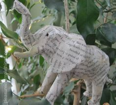 Make your own Paper Animal Ornaments