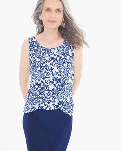 2fa03790e071c Chico s Women s Travelers Classic Scroll-Print Tank Spring Summer Fashion