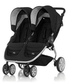 Britax B-Agile Twin Stroller - Black and Chrome