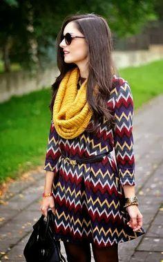 sweater dress yellow scarf sunglasses handbag black Style fashion clothing apparel women outfit summer