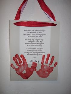 handprint wall hanging with poem