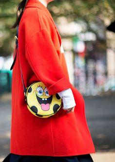 Moschino SpongeBob coated canvas bag  Photo: Younjun Koo/I'M KOO