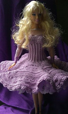 Original crochet design on fashion doll by FancyFreehand on Etsy, $45.00