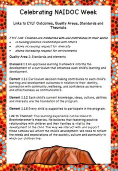 Home :: Resource Type :: Classroom Decorations :: Celebrating NAIDOC Week In your Early Education Classroom Aboriginal Art For Kids, Aboriginal Education, Indigenous Education, Eylf Learning Outcomes, Learning Stories, Childcare Rooms, Childcare Activities, Early Education, Education Posters