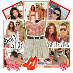 Josh Hutcherson and Selena Gomez at the Kid's Choice Awards, created by chey-love on Polyvore
