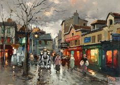 Rue Norvins, place du Tertre Montmartre - Antoine Blanchard .............#GT