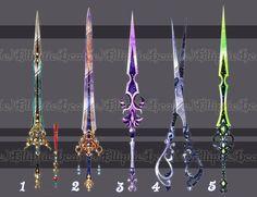 Fantasy Sword, Fantasy Weapons, Fantasy Art, Fantasy Blade, Armas Ninja, Sword Design, Anime Weapons, Weapon Concept Art, Fantasy Jewelry