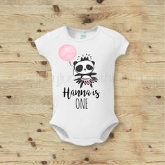 Birthday Baby Outfit Birthday Bear Shirt Custom Birthday Top Custom Baby Shirt Panda Bear Shirt Birthday Top for Girls First Birthday by GypsyJunkClothing