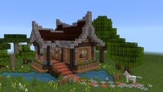周末RPG建筑练习 原本只想试着做个壁炉 &…