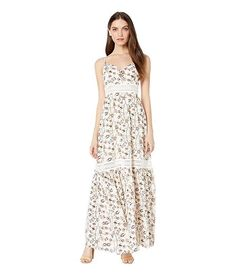Jack by BB Dakota Women's What Grows Around Printe - Choose SZ/color Delicate Gold Necklace, Gold Necklaces, Just Because Gifts, Sweatshirt Dress, Floral Maxi, What I Wore, Lace Trim, Steve Madden, Summer Dresses