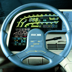 ItalDesign Orbit, 1986 – Interior Source by bluenateman Online Interior Design Services, Interior Design Courses, Car Interior Design, Interior Design Business, Automotive Design, Retro Cars, Vintage Cars, Design Autos, Digital Dashboard