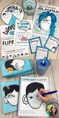 Wonder by R.J. Palacio Unit | Grades 5-10 | Wonder workbook | Teach kindness and courage | Complete novel study | hands-on activities | engaging materials | wonder concrete poetry