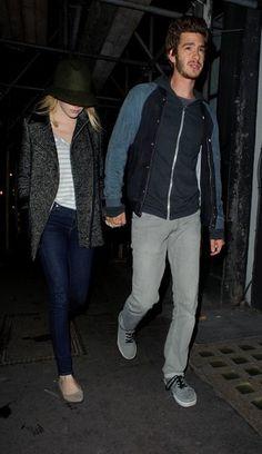 Emma Stone and Andrew Garfield in Soho