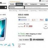 LAVA has launched the recently announced Lava Xolo A800 in the Indian market. An online retailer Infibeam has listed the device up for sale at a price of Rs.11,999.
