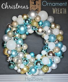 Make a Christmas Ornament Wreath (Holiday Craft)