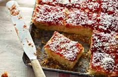 Jammy coconut squares are full of sweet jam and soft sponge. You'll be mad not to try this moreish recipe. Plus, there's no better flavour combo than jam and coconut - it's our favourite! Get the recipe: Jammy coconut squares