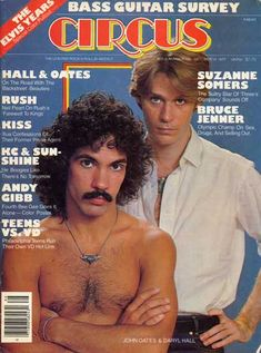 Hall  Oates - Back Together Again 1977 - Circus Magazine....so funny that he is shirtless :)