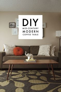 DIY Mid-Century Modern Coffee Table - A Pair of Pears