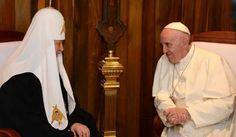 En Cuba, histórico encuentro entre el Papa Católico y el Patriarca de la Iglesia Ortodoxa rusa - CriptogramaMx