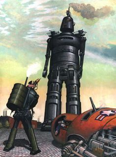 "Cover art from Galaxy Science Fiction, Vol. 40/Nr. 1, July 1980, featuring ""In the Days of the Steam Wars""."