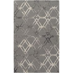 Features:  -Pattern: Geometric.  -Color: Medium gray.  -Viminal collection.  Technique: -Hand woven/Hooked.  Primary Color: -Medium gray.  Material: -Wool.  Product Type: -Area Rug. Dimensions: Rug si