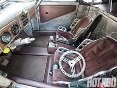 Ford Coupe - Even the interior is awesome! Custom Car Interior, Truck Interior, Interior Ideas, Interior Inspiration, Bomber Seats, Automobile, Drag Cars, Twin Turbo, Custom Cars
