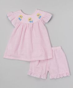 Another great find on #zulily! Pink Mermaid Angel-Sleeve Top & Bloomers - Infant & Toddler #zulilyfinds