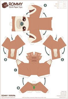 Blog_Paper_Toy_papertoy_Rommy_sloth_prev