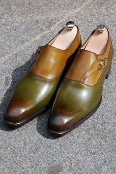 New Handmade men's leather two color monk strap shoes custom shoes, monk sold by Urban footwear. Shop more products from Urban footwear on Storenvy, the home of independent small businesses all over the world. Suit Shoes, Men's Shoes, Shoe Boots, Dress Shoes, Male Shoes, Shoes Men, Suede Leather Shoes, Leather Men, Mode Masculine