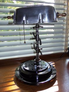 Lamp made from vintage Moto Guzzi Parts