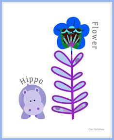 #hippopotamus #hippo #zoo #animals #flowers #nursery #babies #kidsroom #homedecor #whimsical #children #garden #playroom #toddlers Kids Wall Decor, Childrens Room Decor, Children Garden, Baby Nursery Art, Hippopotamus, Kidsroom, Zoo Animals, Blue Flowers, Art Girl