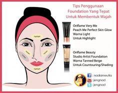 Tips Penggunaan Foundation Untuk Mmebentuk wajah Menggunakan Dua Produk Oriflame   www.jengnad.net