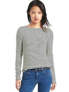 Modern stripe long sleeve tee