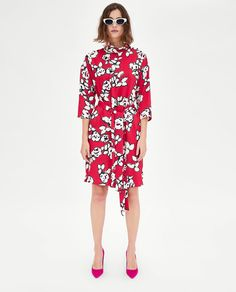 4450054495b0 Image 1 of PRINT DRESS WITH BELT from Zara Zara Mode