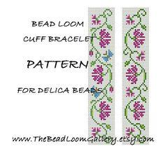 Bead Loom Cuff Bracelet Pattern Vol.1, Vol.2 - Carnation Bracelets - PDF File…