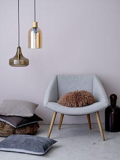 Elegant chair / Light grey. Design by Bloomingville