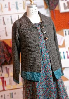 Sawtelle Adult cardigan is made entirely of knit sts and the only seaming is at the shoulders. It's the grown up version of the popular Sawtelle, for girls. A very EASY project for beginners wanting to go beyond scarves.