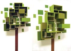 Green tree like shelf