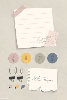 Journal Template, Pastel Paper, Notes Design, Journal Stickers, Bullet Journal Ideas Pages, Collage Frames, Good Notes, Stationery Set, Note Paper