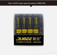 4 x 1.5v 3000mWh AA  li-ion polymer lithium rechargeable battery + USB Charger  #ad