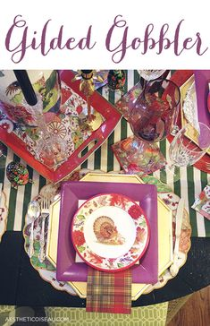 Aesthetic Oiseau: My Paper Plate Thanksgiving, Caspari Style
