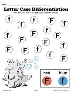Letter F Do-A-Dot Printables For Letter Case Differentiation Practice! Letter R Activities For Kindergarten, Teaching Letters, Preschool Letters, Tracing Worksheets, Alphabet Worksheets, Preschool Worksheets, Letter Case, Letter F, Letter R Crafts