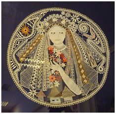 Liptovská čipka - Beautiful bobbin lace piece.