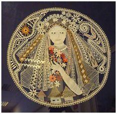 Liptovská čipka - Beautiful bobbin lace piece.