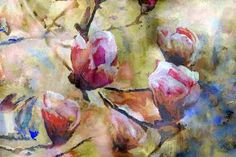 "Saatchi Art Artist Mirjana Barkovic; Painting, ""Magnolia"" #art"