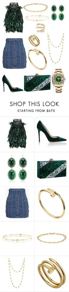 """Senza titolo #199"" by chiarazani ❤ liked on Polyvore featuring Erdem, Gianvito Rossi, Andrea Fohrman, Edie Parker, Balmain, Rolex, Ippolita, Jennifer Meyer Jewelry, Marco Bicego and Suzanne Kalan"