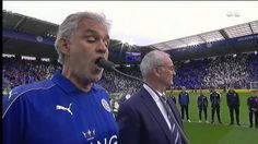 Andrea Bocelli Sings To King Power Stadium/Leicester City EPL Champions . Leicester City Fc, King Power, Champion, Singing, Religion, Polo Ralph Lauren, Football, News, Music