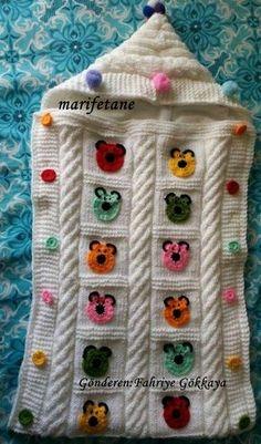 Knitting Sleeping Bag How to Knit. Crochet Baby Cocoon Pattern, Crochet Flower Patterns, Crochet Blanket Patterns, Sweater Knitting Patterns, Hand Knitting, Baby Sewing, Sleeping Bag, Summer Outfits, Women